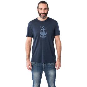 super.natural Graphic Koszulka Mężczyźni, blue iris melange/skyway adventure awaits